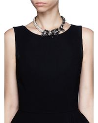 Assad Mounser | Metallic Scallop Side Rhinestone Choker | Lyst