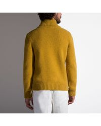 Bally Yellow Cashmere Polo Neck for men