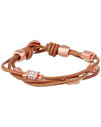 Fossil Pink Barrel Leather Bracelet