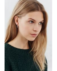 Urban Outfitters | Metallic Ice Chip Front/back Post Earring | Lyst