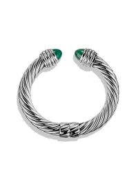 David Yurman - Cable Classics Bracelet with Green Onyx - Lyst