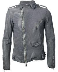 Giorgio Brato Gray Biker Jacket for men