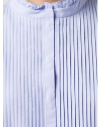 Nina Ricci | Blue Ribbed Bib Shirt Dress | Lyst