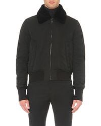 KENZO | Black Detachable-collar Bomber Jacket for Men | Lyst