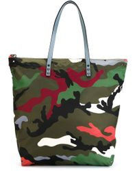 Valentino | Green Camouflage Tote for Men | Lyst