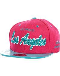River Island Pink Los Angeles Felt Trucker Hat