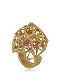 Lotocoho - Metallic Voronoi Ii Ring - Lyst