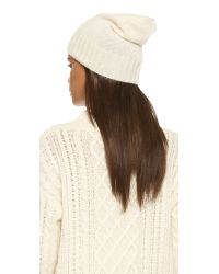 Hat Attack | White Cashmere Slouchy / Cuff Hat | Lyst