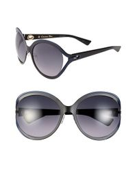 Dior | Black Christian 'elle 1' 61mm Sunglasses | Lyst