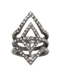 Banana Republic | Metallic Deco Sparkle Ring | Lyst