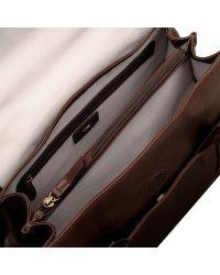 Radley Brown Border Large Flapover Tote Handbag