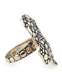 John Hardy Metallic Ayu Silver Frangipani Ring
