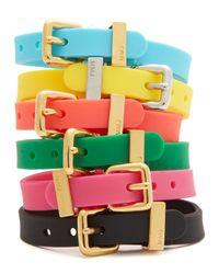 Marc By Marc Jacobs Green Logo Rubber Bandz Bracelet