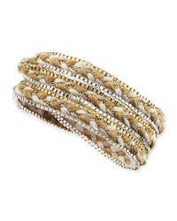 Nakamol Metallic Braided Rope & Box Chain Wrap Bracelet