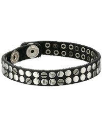 DIESEL | Black Abivitex Bracelet for Men | Lyst