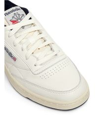 Reebok White 'club C 85 Vintage' Leather Sneakers for men
