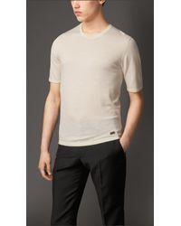 Burberry White Merino Wool T-Shirt for men