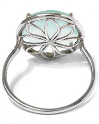 Suzanne Kalan | Metallic White Gold Chalcedony Centre Ring | Lyst