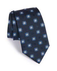 Brioni Blue Medallion Silk Tie for men