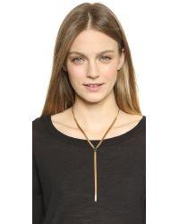 Serefina | Metallic Chain Lariat Necklace - Gold | Lyst