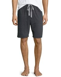 Kenneth Cole | Black Drawstring Jersey Shorts for Men | Lyst
