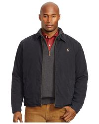 Polo Ralph Lauren | Black Big And Tall Poplin Windbreaker for Men | Lyst