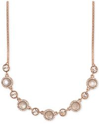 Givenchy | Pink Rose Gold-Tone Crystal And Mother-Of-Pearl Frontal Necklace | Lyst