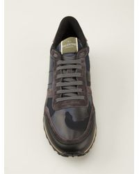 Valentino Blue 'Rockstud' Sneakers for men