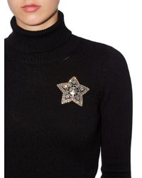 Lanvin - Metallic Elsie Crystal Star Brooch - Lyst