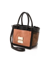 See By Chloé Natural Nellie Small Zip Tote - Black/Pink Sahara