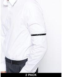 ASOS Black Sleeve Garters for men