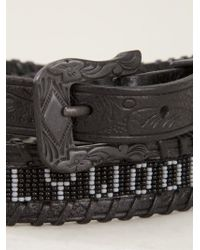 HTC Hollywood Trading Company Black Embossed Belt