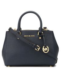 92a6cfb9d87d92 MICHAEL Michael Kors Small 'sutton' Tote in Blue - Lyst