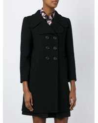 Marc Jacobs | Black Double Breasted Coat | Lyst