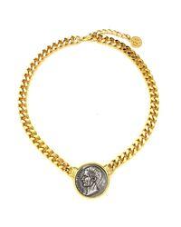 Ben-Amun | Metallic Roman Coin Collar Necklace | Lyst