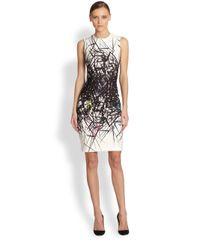 Yigal Azrouël | White Scuba Branch Print Dress | Lyst