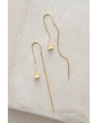 Anthropologie | Metallic Pearblossom Threaded Earrings | Lyst