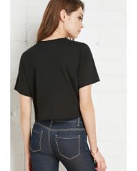Forever 21 - Black Abstract Embroidered Tee - Lyst