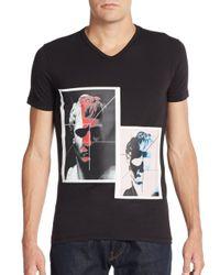 Emporio Armani | Black Photo-print Cotton Tee for Men | Lyst