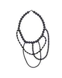 FLorian | Black Multi-strand Necklace | Lyst