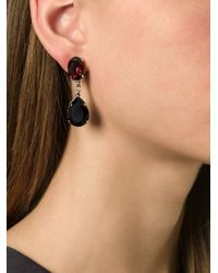 N°21 - Black Teardrop Clip On Earrings - Lyst