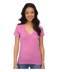 Hurley | Purple Solid Perfect V Neck Tee | Lyst