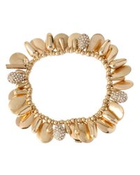 Kenneth Cole | Metallic Goldtone Shaky Bead Bracelet | Lyst