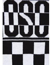 Love Moschino White Monochrome Checked Cotton Jumper for men