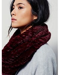 Free People - Red Womens White Cap Cowl - Lyst