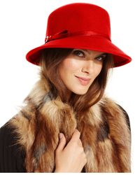 Nine West | Red Felt Trench Coat Hat | Lyst