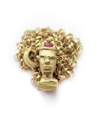 Fraser Hamilton - Metallic Ruby King - Carved Head Necklace - Lyst
