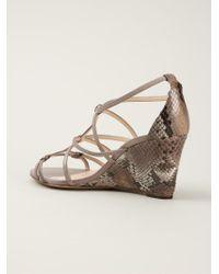 Alexandre Birman Gray Wedge Sandals