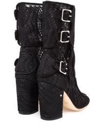 Laurence Dacade | Black Suede Ankle Boots With Macramé Lace | Lyst