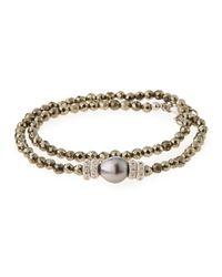 Armenta | Metallic New World Tahitian Pearl & Diamond Wrap Bracelet for Men | Lyst